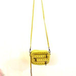 REBECCA MINKOFF Studded Yellow Leather Purse